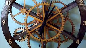 Free Wooden Clock Plans Download by Wooden Gear Clock Starchar Youtube