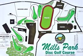 Map Of Pigeon Forge Tennessee by Mills Park Disc Golf Course Professional Disc Golf Association