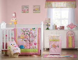 Owls Crib Bedding Line Dena Happi Tree 6 Crib Set Pink