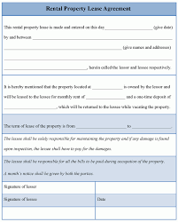 Rental House Lease Agreement Template 14 Best Photos Of House Rent Agreement Format House Rental