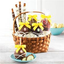 easter gift baskets delightful surprises easter caramel apple and confections gift