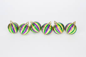 mardi gras ornaments 2 5 vertical stripe bx of mardi gras ornaments the mardi gras