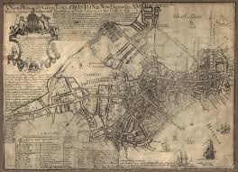 Boston Map 1776 by Thomas Betterly 1723 1775 U0026 Elizabeth Carson 1732 1775