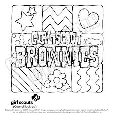 scout coloring pages brownies scouts