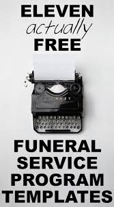 funeral program templates our favorite actually free funeral program templates urns online