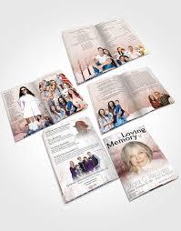 memorial booklet booklet memorial folder winter paradise funeralparlour