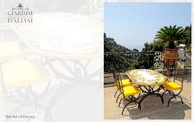 Tavolo Da Giardino Leroy Merlin by Tavolino Da Giardino Ceramica Di Vietri Idee Creative Su Interni