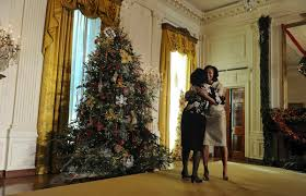 White House Christmas Decorating Michelle Obama Unveils White House 2012 Holiday Decorations