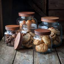 kitchen room mason jar canisters ceramic canister glass cookie