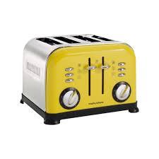 morphy richards 4 slice accents toaster yellow amazon co uk