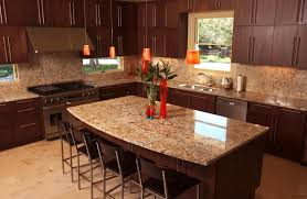 brown granite countertops with white cabinets do it yourself kitchen cupboards trendy light brown wooden dining