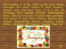 Thanksgiving Day Wishes To Friends Thanksgiving Day The Fourth Thursday Of November In The Usa Ppt
