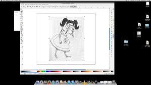 how to make an ink drawing into a vector graphic using inkscape