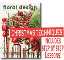 arranging flowers for christmas floraldesignmagazine com