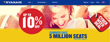 ryanair black friday seat sale continues with 10 off summer