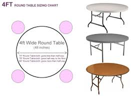 what size tablecloth for 48 round table excellent what size tablecloth for 4ft round table