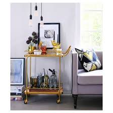 Watch Interior Leather Bar Online Metal Wood And Leather Bar Cart Gold Threshold Target