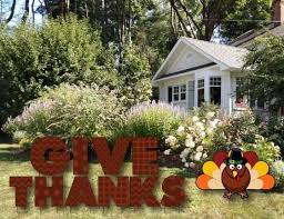 give thanks thanksgiving yard letters with stakes
