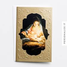 holy sacred night mary and jesus boxed christmas cards dayspring