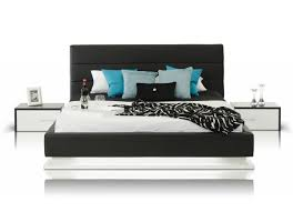 modrest infinity contemporary black white bedroom set