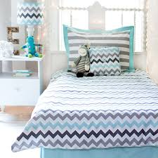 Gray Chevron Bedding Chevron Bedding Set In Aqua By My Baby Sam Rosenberryrooms Com