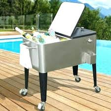 patio beverage cooler cart beverage cooler cart charming rolling patio cooler with tray quart