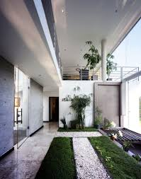House With High Ceilings Interior Design Green Grass In Beautiful Garden Landscape Ideas