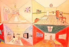 la chambre d arles travail sur la perspective à partir de la chambre à arles de