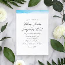 Calligraphy Wedding Invitations Watercolor Collection Archives Fine Day Press