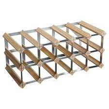 buy ready to assemble 15 bottle wine rack natural pine from our