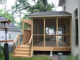 screen porch designs for houses small screened in back porch ideas with natural wooden and grey