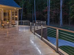 designrail led lighting on tiled deck feeney photo gallery