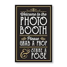 photo booth sign photo booth prop sign with easel backer stand