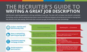 How To Write A Job Description For A Resume by Tips To Writing A Great Job Description Recruitics