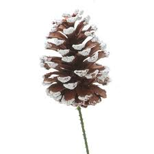 floral picks 4 in snow tipped pinecone