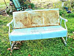 Glider Porch Vintage 1930s Blue And White Porch Glider The Birth Of The