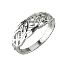 celtic rings silver rhodium plated celtic ring claddagh jewellers