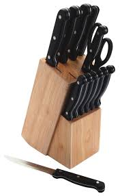 kitchen craft 13 piece knife set with wooden block