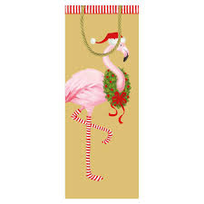 caspari gift bags christmas flamingo wine bottle gift bag 1 each caspari