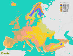 Climate Zones For Gardening - europe hardiness map landscape architect u0027s pages