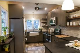 best designs for small kitchens dark cabinets smalltchen white gloss island with black glass top