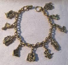 vintage bracelet ebay images Vintage signed coro cgi inc gold tone ten commandments charm jpg