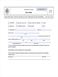 Bill Of Sale Motor Vehicle Form by 6 Trailer Bill Of Sale Forms Free Sample Example Format Download