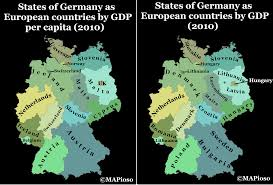 Unification Of Germany Map by Germany 23 Years After Unification Still A Long Way To Go Mapioso