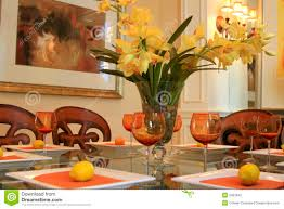 orange kerchiefs dining room table centerpieces ideas tall crystal