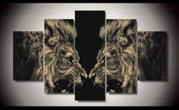 discount lion abstract oil painting 2017 lion oil painting
