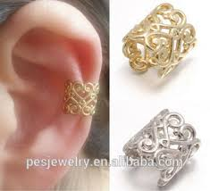 gold ear cuff 18k gold plated decorated warp ear cuff earrings jewelry for