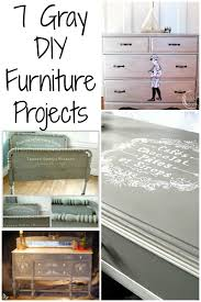 Diy Painted Furniture 7 Painted Gray Furniture Diy Projects The Graphics Fairy