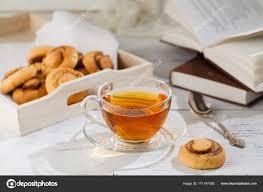 ots de cuisine ots de cookies en comida y bebida tema imagen de té negro taza wi