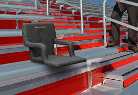 amazon com extra wide stadium seat chair for bleachers or